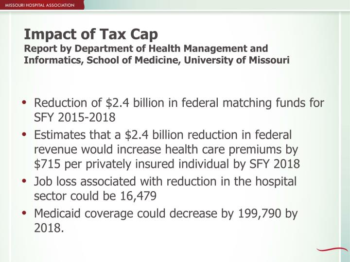 Impact of Tax Cap