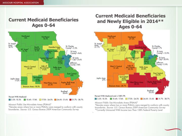 Current Medicaid Beneficiaries and Newly Eligible in 2014** Ages 0-64