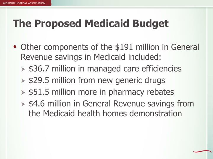 The Proposed Medicaid Budget