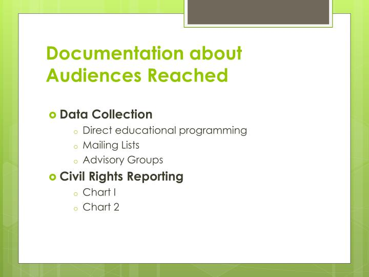 Documentation about Audiences Reached
