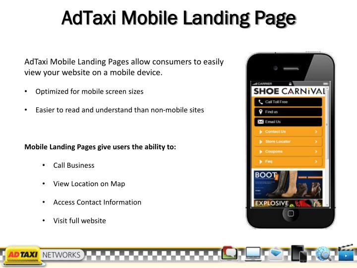 AdTaxi Mobile Landing Page