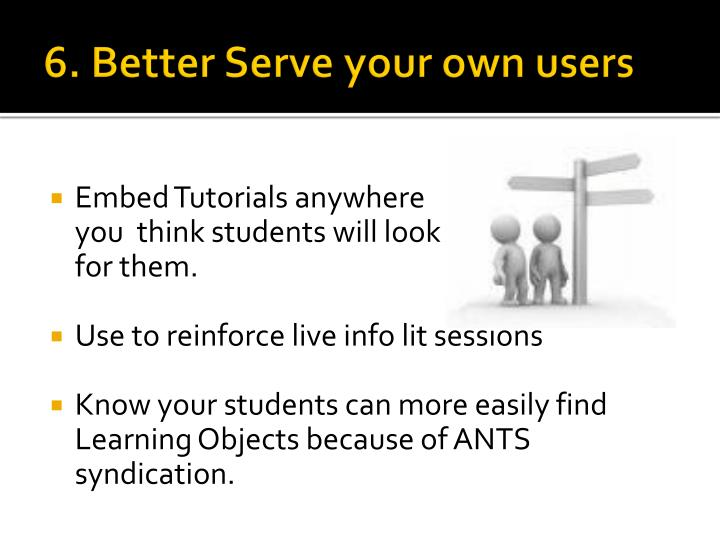 6. Better Serve your own users