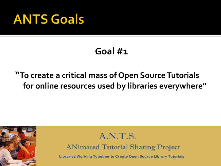 ANTS Goals