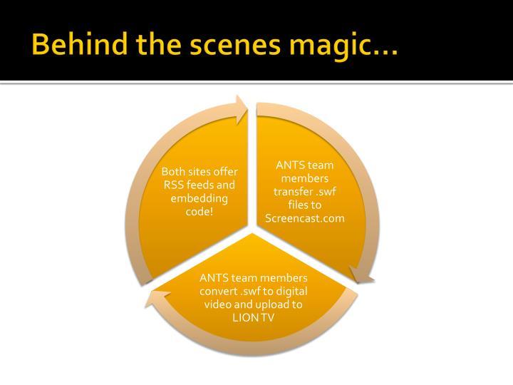 Behind the scenes magic…