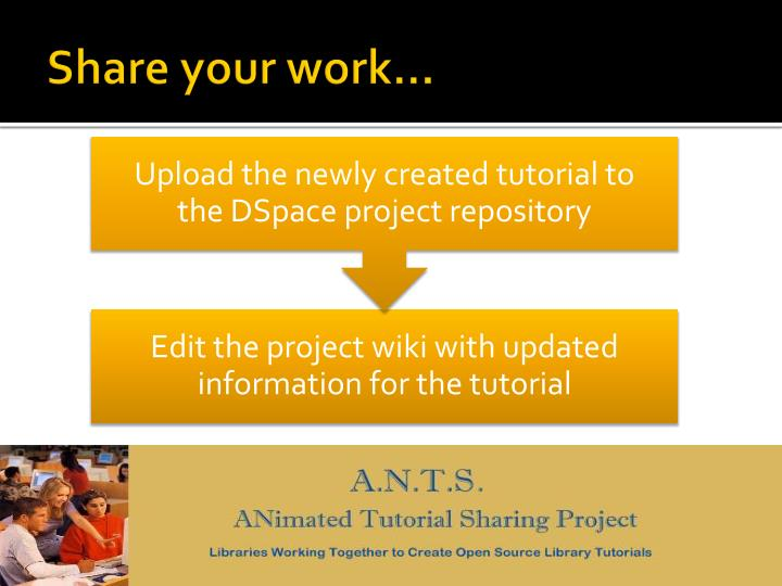 Share your work…
