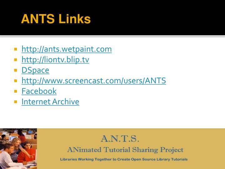 ANTS Links