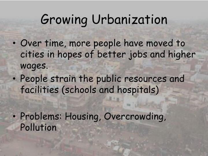 Growing Urbanization