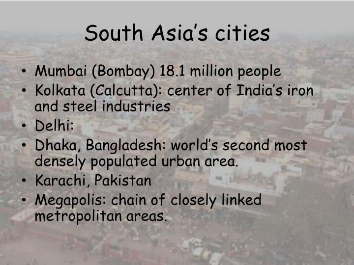 South Asia's cities