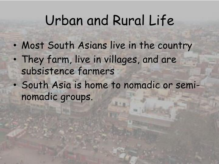 Urban and Rural Life