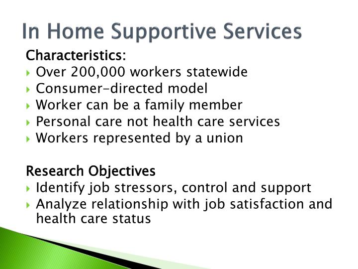 In Home Supportive Services