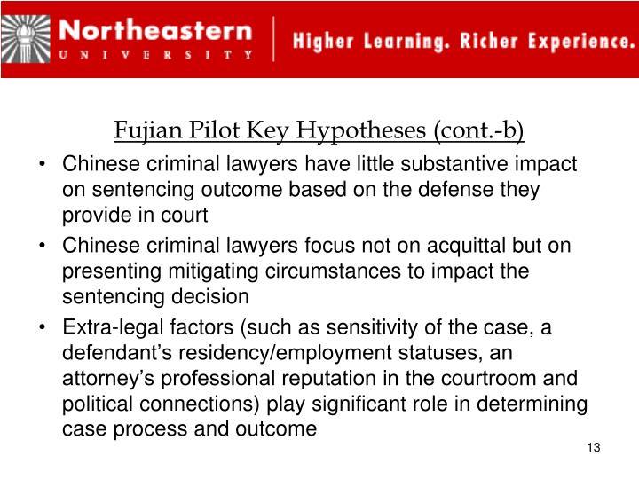 Fujian Pilot Key Hypotheses (cont.-b)