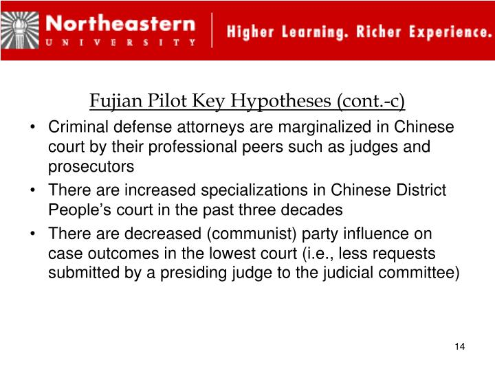 Fujian Pilot Key Hypotheses (cont.-c)