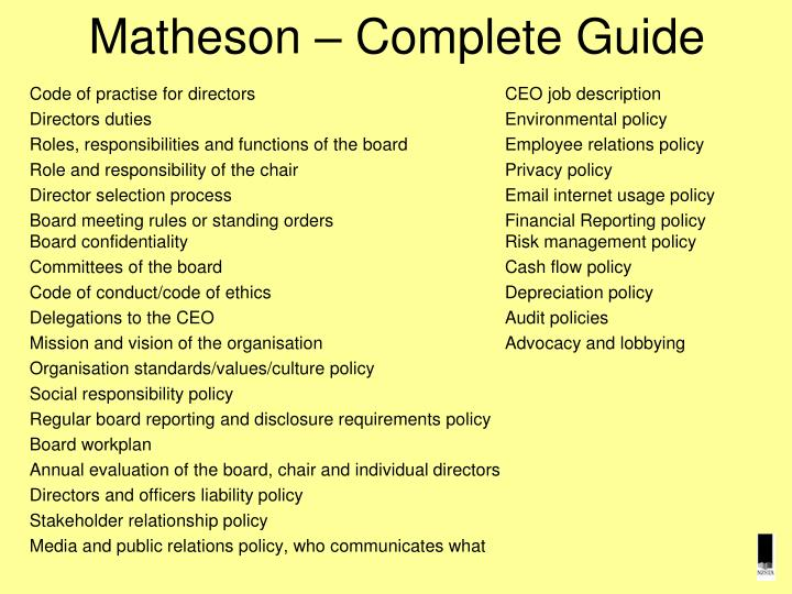 Matheson – Complete Guide