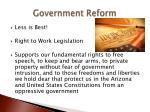 government reform