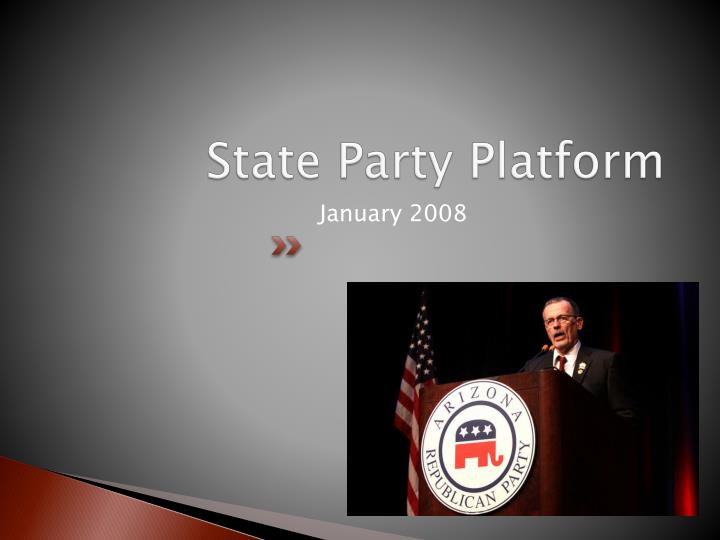 State party platform