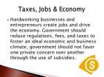 taxes jobs economy