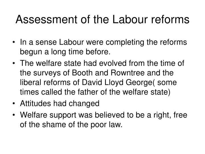 Assessment of the Labour reforms