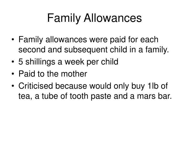 Family Allowances