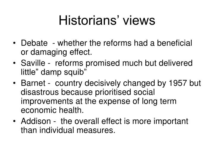 Historians' views