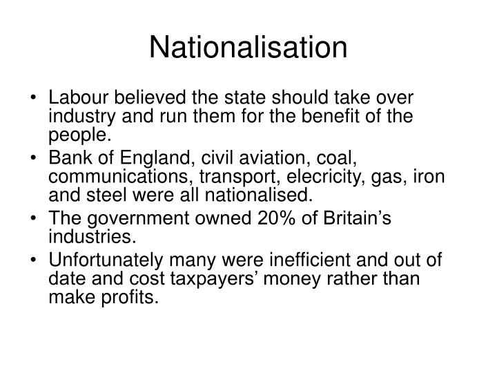 Nationalisation
