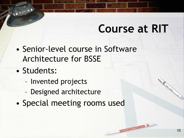 Course at RIT