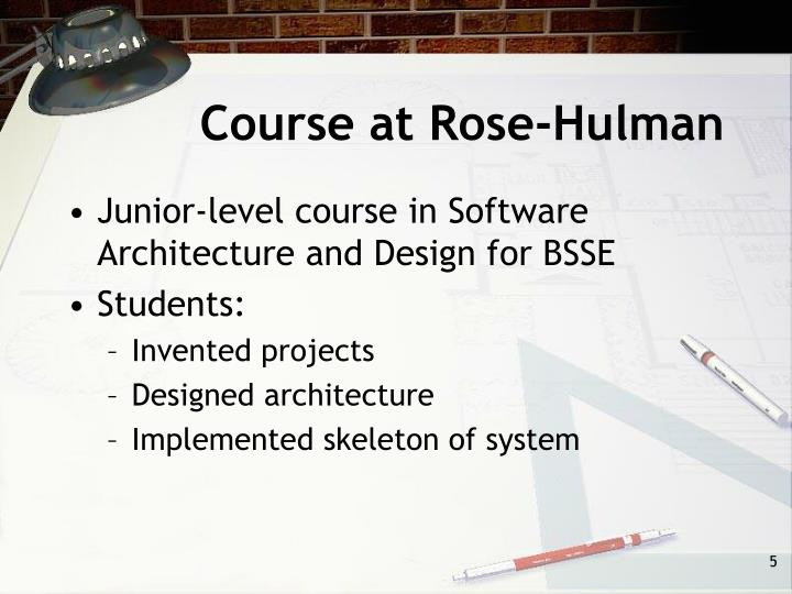 Course at Rose-Hulman