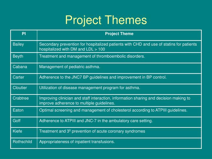 Project Themes