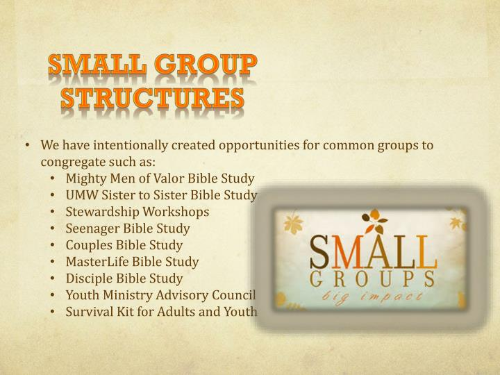 Small Group Structures