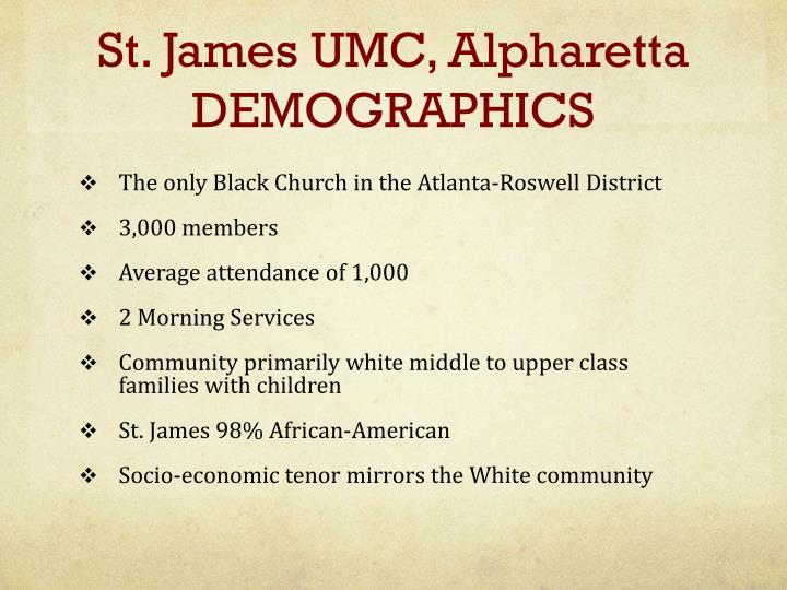 St. James UMC, Alpharetta DEMOGRAPHICS