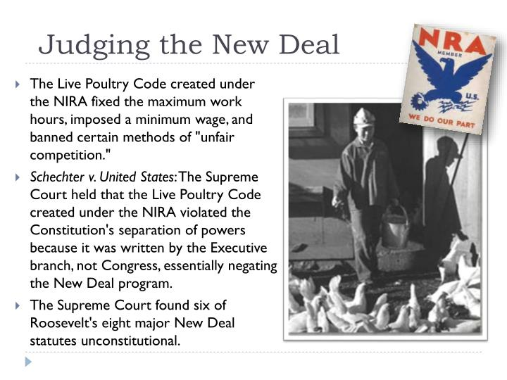 Judging the New Deal