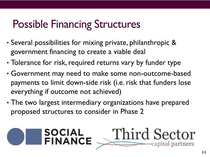 Possible Financing Structures