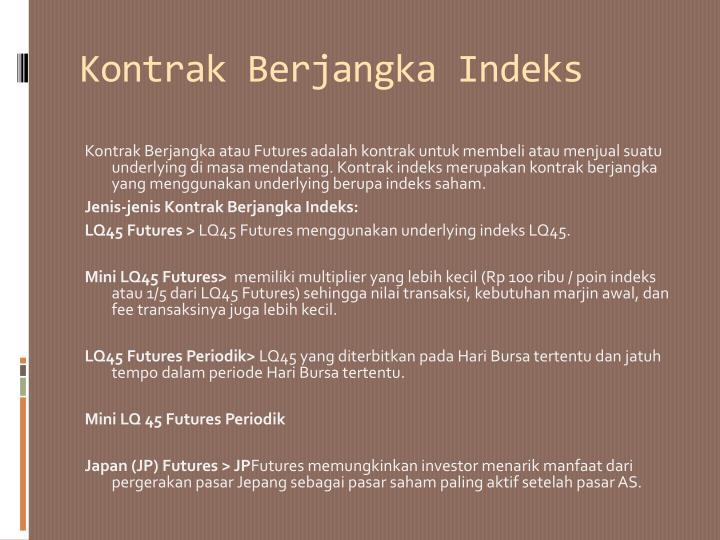 Kontrak Berjangka Indeks