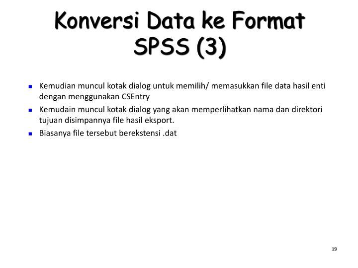 Konversi Data ke Format SPSS (3)
