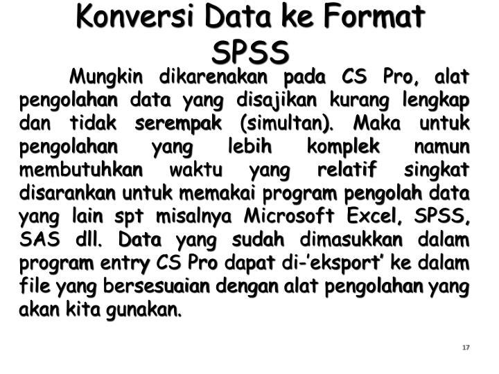 Konversi Data ke Format SPSS
