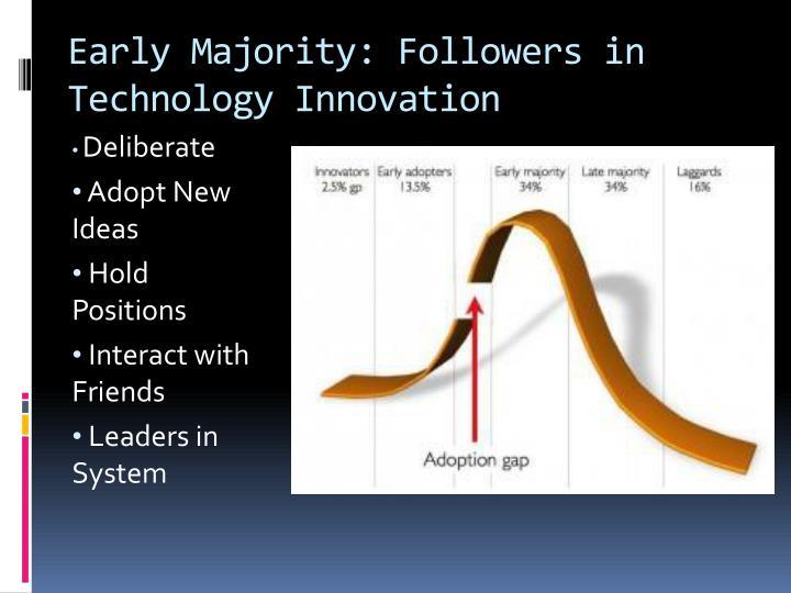 Early Majority: Followers in Technology Innovation