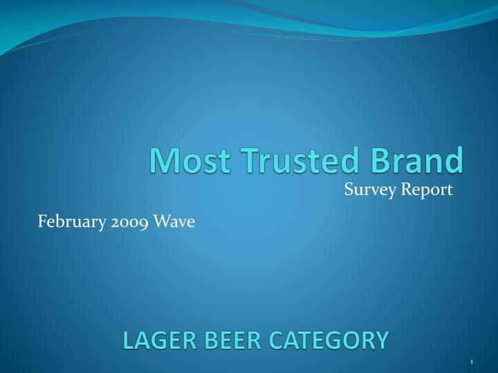 Lager beer category