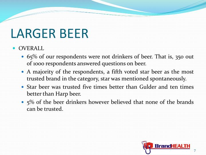 LARGER BEER