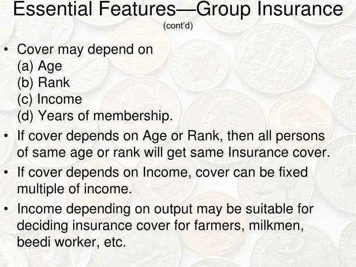 Essential Features—Group Insurance
