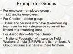 example for groups