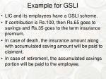 example for gsli