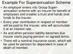 example for superannuation scheme