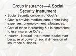 group insurance a social security instrument