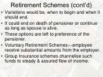 retirement schemes cont d1