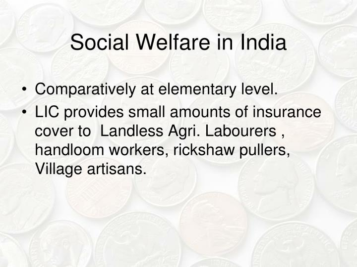 Social Welfare in India
