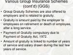 various group insurance schemes cont d ggs