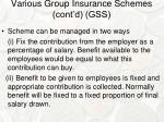 various group insurance schemes cont d gss2