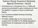 various group insurance schemes special schemes gles