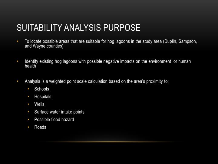 Suitability Analysis Purpose
