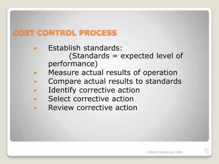 Establish standards: