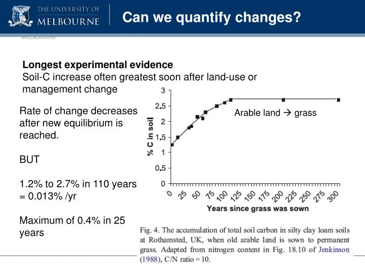 Can we quantify changes?